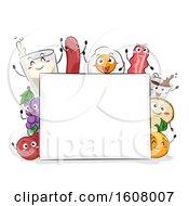 Mascot Breakfast Food Board Illustration