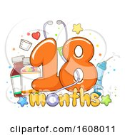 Check Up Vitamins Eighteen Months Illustration