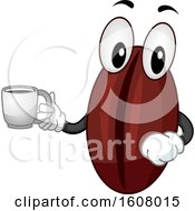 Mascot Coffee Bean Coffee Illustration