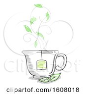 Tea Cup Herbal Illustration