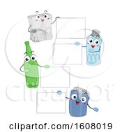 Mascot Recycle Materials Board Illustration
