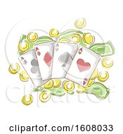 Money Card Gamble Illustration