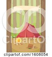 Woodland Camping Illustration