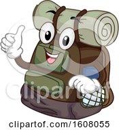 Mascot Camp Bag Illustration