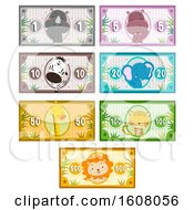 Animals Safari Money Printables Illustration