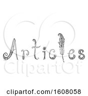 Articles Lettering Feathers Illustration