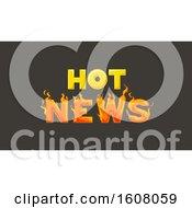 Hot News Fire Illustration