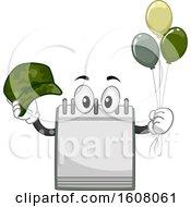 Poster, Art Print Of Mascot Calendar Army Birthday Illustration