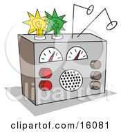 Shortwave Radio Clipart Picture by Andy Nortnik