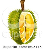 Clipart Of A Jackfruit Royalty Free Vector Illustration