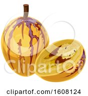 Clipart Of A Pepino Royalty Free Vector Illustration