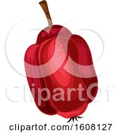 Clipart Of A Ackee Apple Royalty Free Vector Illustration