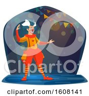 Clipart Of A Performing Circus Clown Royalty Free Vector Illustration by Vector Tradition SM