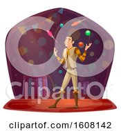 Performing Circus Juggler