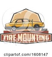 Clipart Of A Car Repair Design Royalty Free Vector Illustration