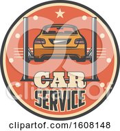 Clipart Of A Car Repair Design Royalty Free Vector Illustration