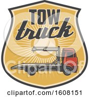 Clipart Of A Tow Truck Design Royalty Free Vector Illustration