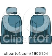 Clipart Of Car Seats Royalty Free Vector Illustration