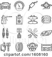 Clipart Of Car Repair Icons Royalty Free Vector Illustration