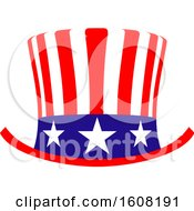 Clipart Of A Usa Design With A Top Hat Royalty Free Vector Illustration