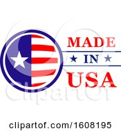 Poster, Art Print Of Made In The Usa Design