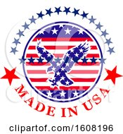 Clipart Of A Made In The Usa Design With An Eagle Royalty Free Vector Illustration