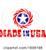 Clipart Of A Made In The Usa Design With A Star Royalty Free Vector Illustration