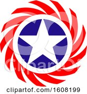 Clipart Of A Usa Design With A Star Royalty Free Vector Illustration