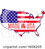 Clipart Of A Made In The Usa Design Royalty Free Vector Illustration