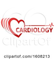 Clipart Of A Medical Cardiology Heart Design Royalty Free Vector Illustration