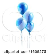 Group Of 3d Blue Party Balloons