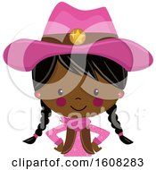 Clipart Of A Happy Black Cowgirl With Braids And A Pink Outfit From The Belly Up Royalty Free Vector Illustration by peachidesigns