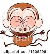 Cartoon Celebrating Monkey