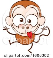 Clipart Of A Cartoon Goofy Monkey Royalty Free Vector Illustration