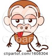 Cartoon Indifferent Monkey