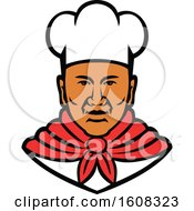 Clipart Of A Black Male Chef Wearing A Toque Royalty Free Vector Illustration