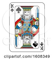 Clipart Of A King Of Spades Playing Card Royalty Free Vector Illustration by AtStockIllustration