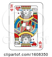 Clipart Of A King Of Hearts Playing Card Royalty Free Vector Illustration by AtStockIllustration