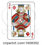 Clipart Of A Jack Of Diamonds Playing Card Royalty Free Vector Illustration by AtStockIllustration