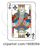 Clipart Of A Jack Of Clubs Playing Card Royalty Free Vector Illustration by AtStockIllustration