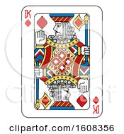 Clipart Of A King Of Diamonds Playing Card Royalty Free Vector Illustration by AtStockIllustration