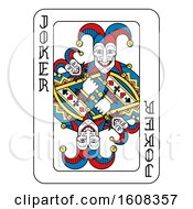 Clipart Of A Joker Playing Card Royalty Free Vector Illustration