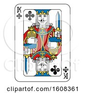 Clipart Of A King Of Clubs Playing Card Royalty Free Vector Illustration by AtStockIllustration
