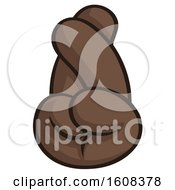 Clipart Of A Black Fingers Crossed Emoji Hand Royalty Free Vector Illustration
