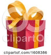 Poster, Art Print Of Gift Box With A Bow