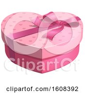 Poster, Art Print Of Heart Shaped Gift Box With A Bow
