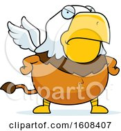 Clipart Of A Cartoon Angry Chubby Griffin Mascot Character Royalty Free Vector Illustration