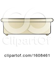 Clipart Of A Bath Tub Royalty Free Vector Illustration by Lal Perera