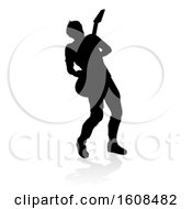 Silhouetted Male Guitarist With A Reflection Or Shadow On A White Background
