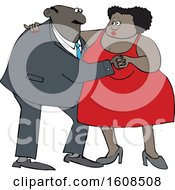 Clipart Of A Cartoon Black Couple Dancing Royalty Free Vector Illustration